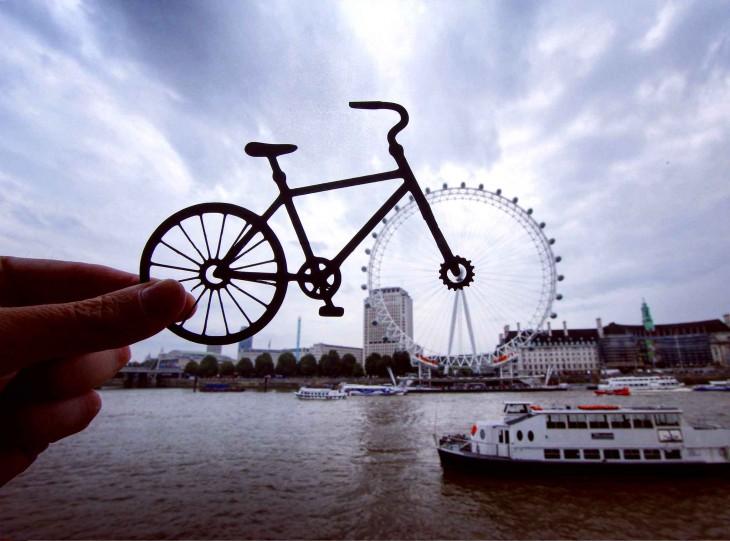 el london eye convertido en bicicleta por el fotógrafo Rich McCor