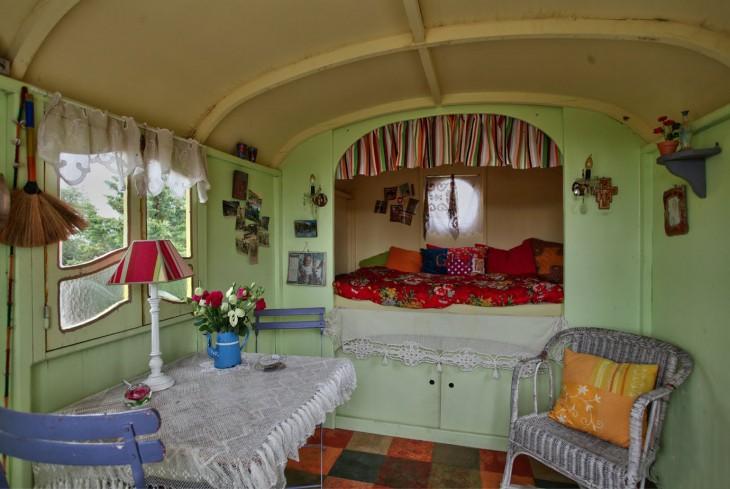 decoración interior de un remolque