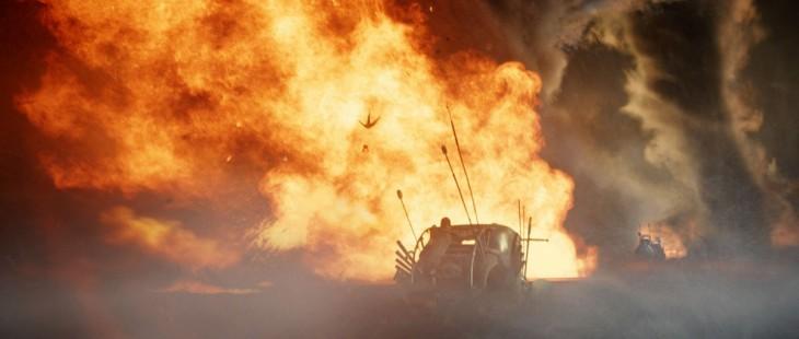 efectos especiales en una escena de la película de Mad max