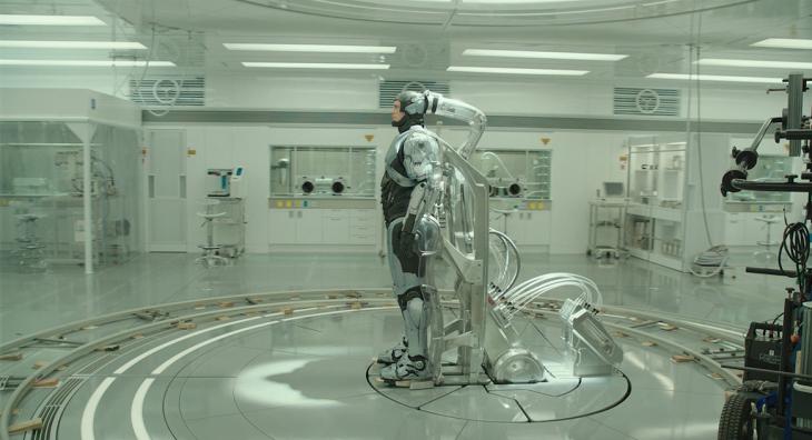 escena con efectos especiales de la película de robocop