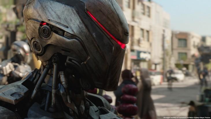 cabeza de un robot en la película de Robocop