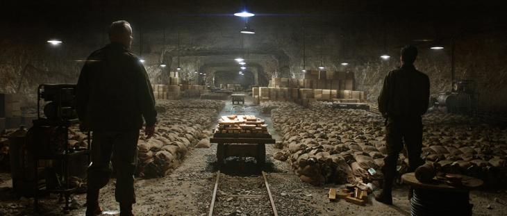 escena de la película The Monuments Men de una bodega subterránea