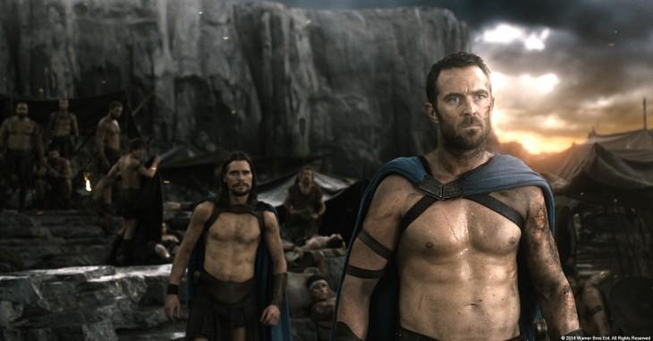 gladiadores en una escena de la película 300