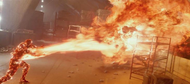 escena en llamas de la película de X men: días del futuro pasado