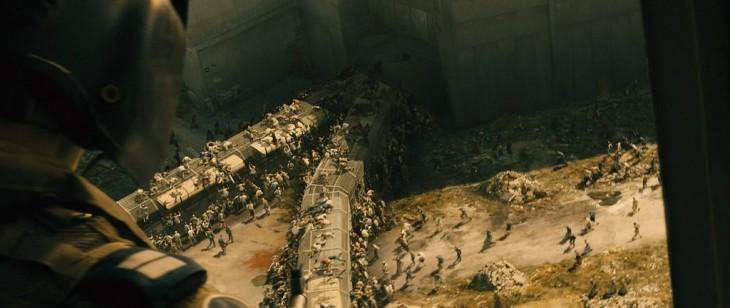 escena de la película guerra mundial Z