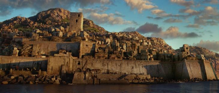 castillo de piedra que aparece en la película las crónicas de Narnia