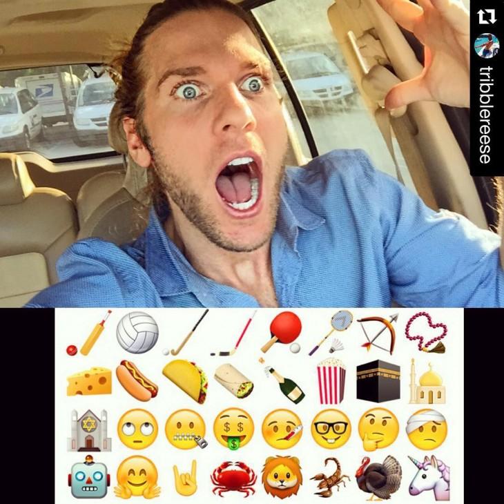 hombre en el trafico emojis
