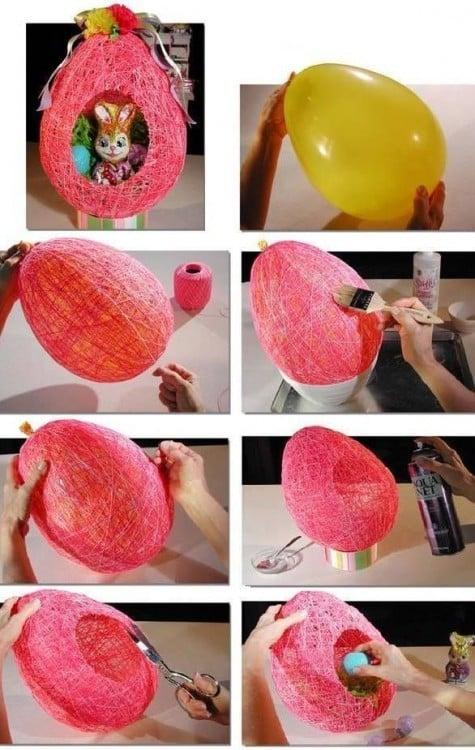 Procedimiento para crear una cesta decorativa para pascua