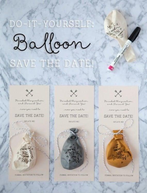 invitaciones de fiesta decoradas con un globo
