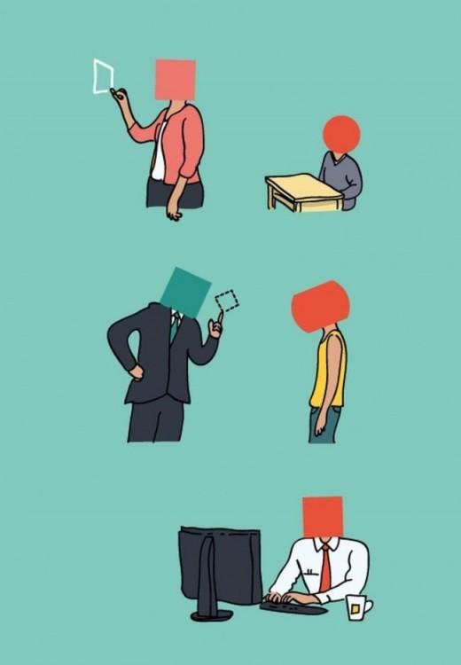 ilustración de Eduardo Salles acerca de la educación actual