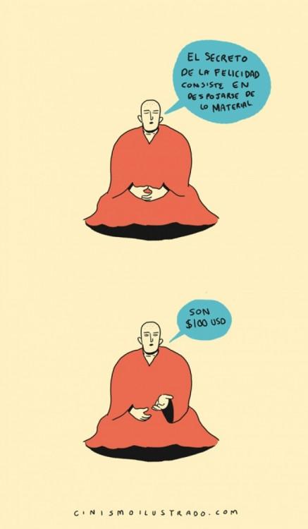 dibujo de un monje tibetano