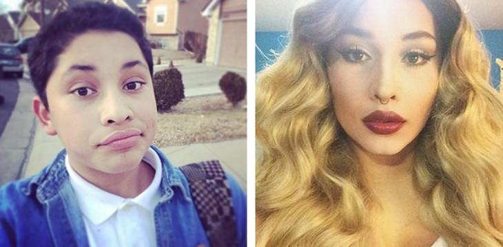 Hector Vasquez antes y después de su transformación Drag Queen