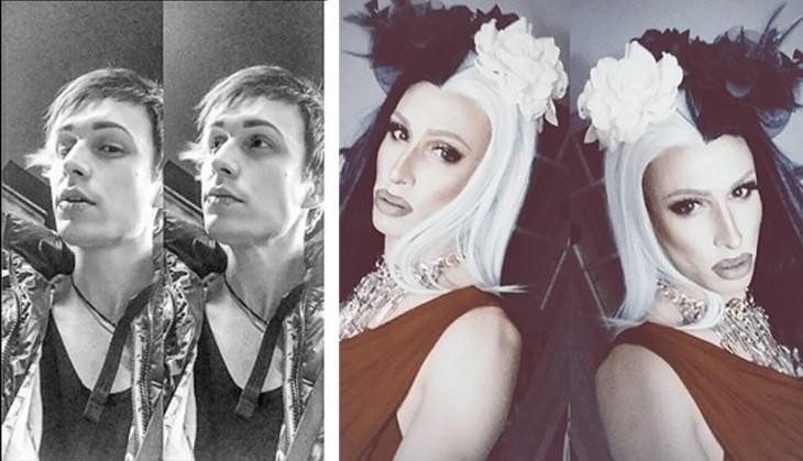 Queen Bushido chico vestido de drag queen