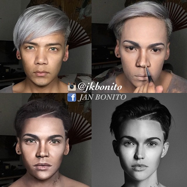 Transformación de un chico en Ruby Rose