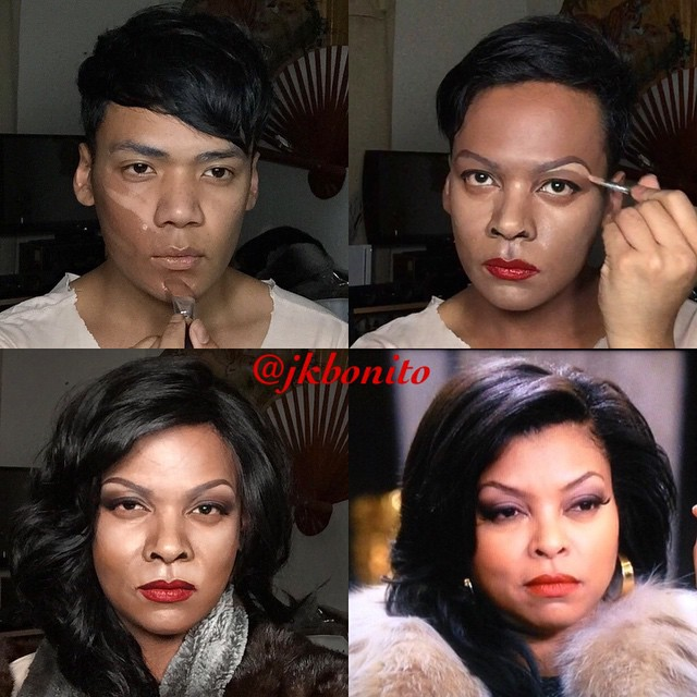 Jan Bonito transformándose en Cookie Lyon