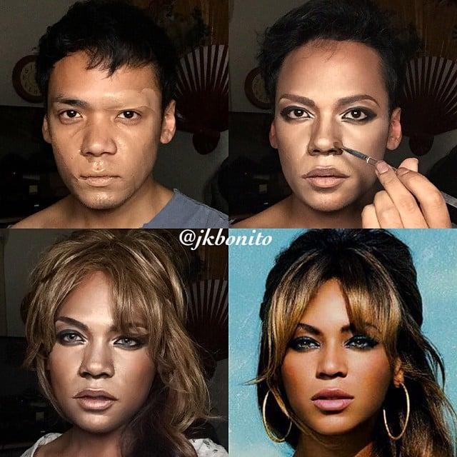 Jan Bonito se transforma en Beyoncé con maquillaje