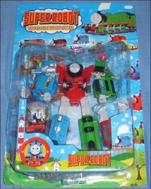 imitación pirata del juguete de Tomas el tren
