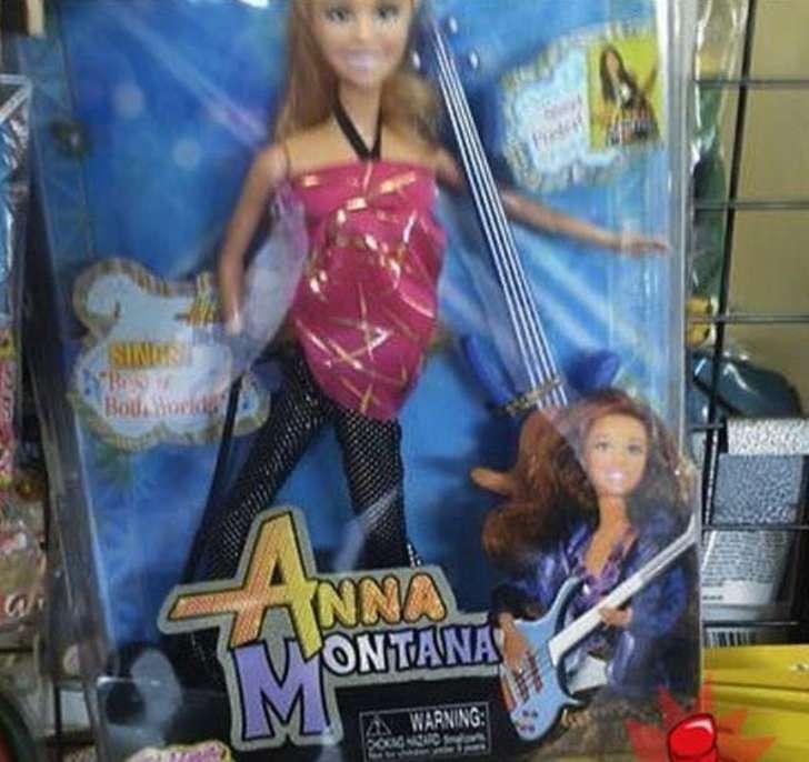 imitación de un juguete con el nombre de Anna Montana