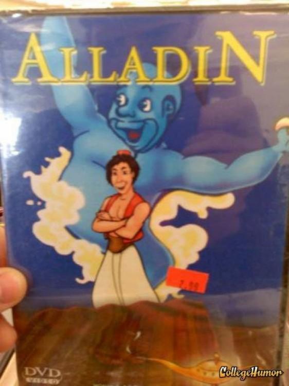 portada de una película llamada 'Alladin'