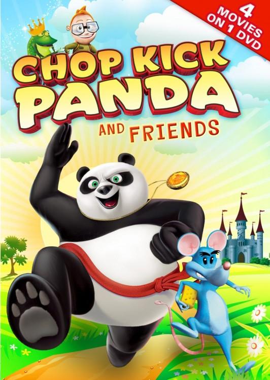 póster de un un panda con la leyenda 'Chop Kick Panda and Friends'