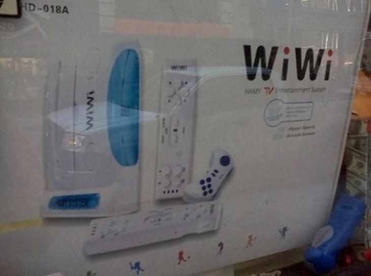 imitación de la consola de videojuegos con la palabra 'WiWi'