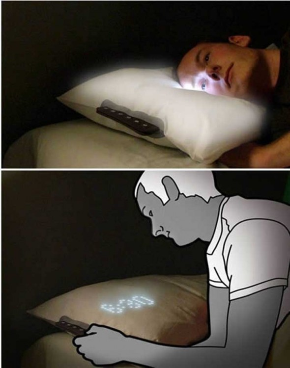 almohada reloj que se ilumina