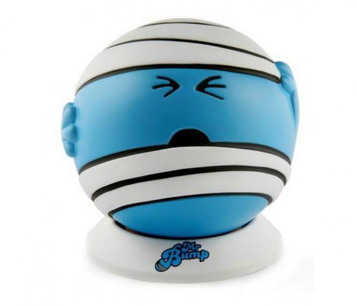 reloj despertador en forma de pelota color azul