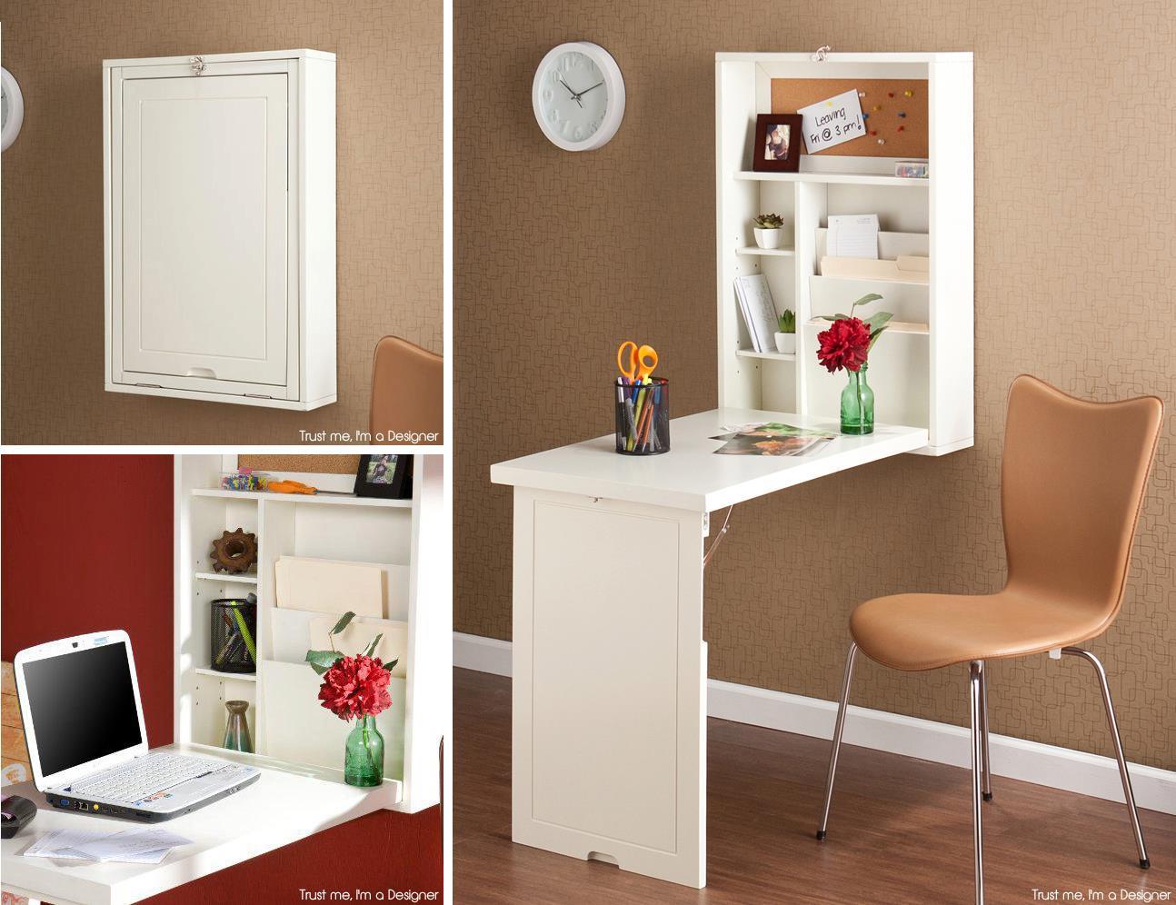 20 lugares secretos para guardar cosas en tu hogar for Muebles escritorio para casa