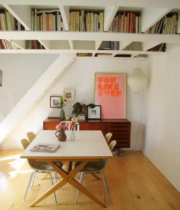 escritorio en el techo del comedor