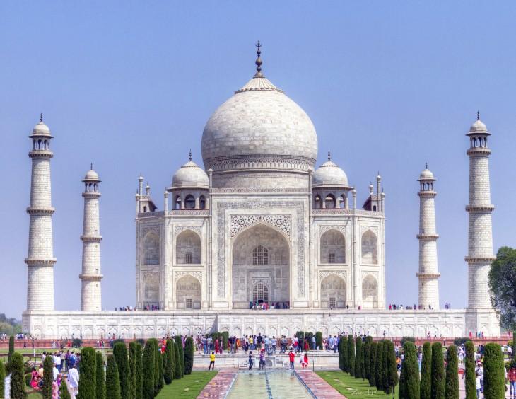Fotografía del Taj Mahal en India