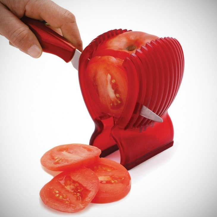 cortador en rodajas de tomate
