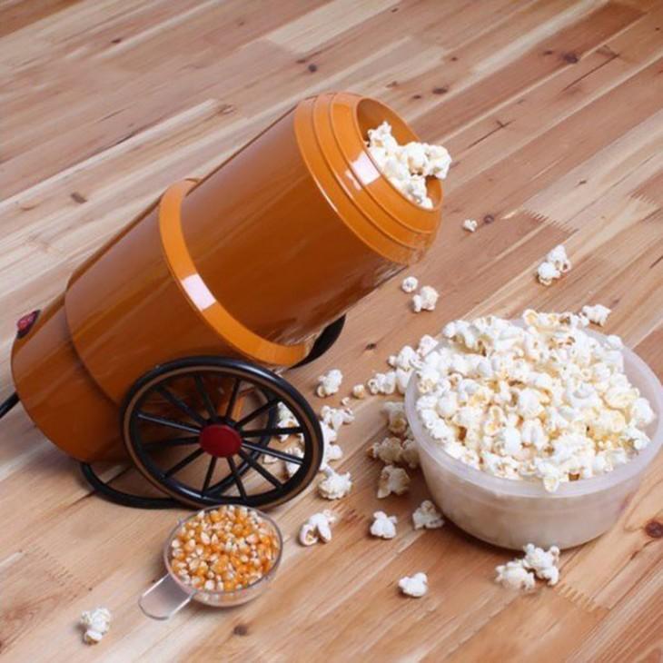 máquina para hacer palomitas de maíz en forma de cañón