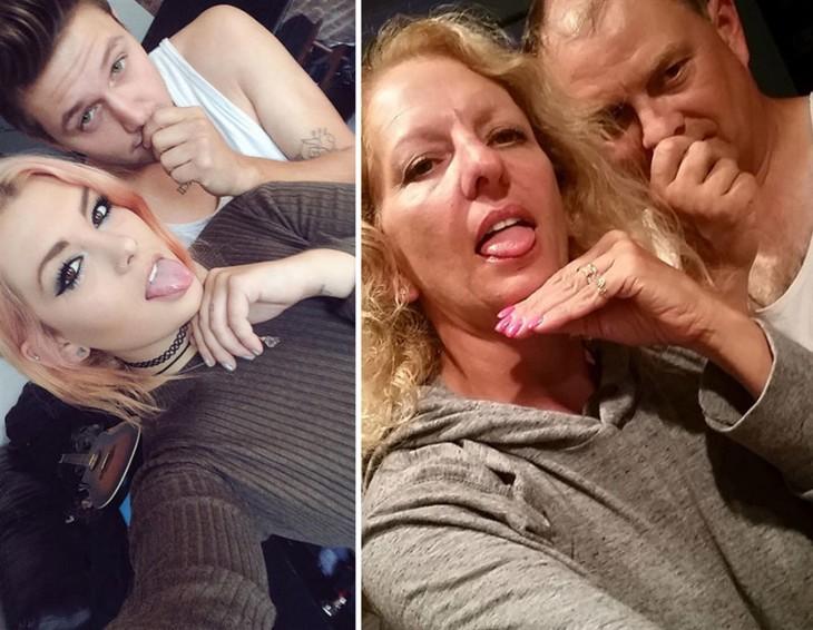 padres trollean a su hija con fotos parodiadas