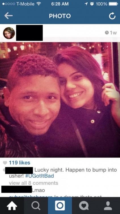 ela com Usher pirata