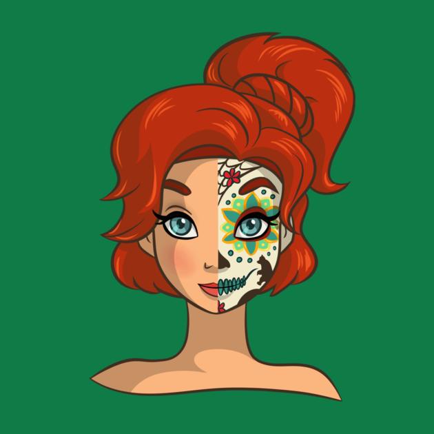 anya de anastasia maquillada de catrina