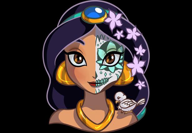 Jasmine maquiagem Catrina