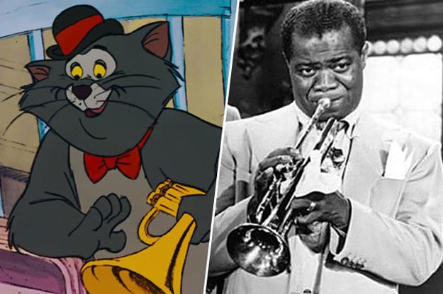 el gato jazz esta inspirado en el cantante y trompetista de jazz Louis Armstrong