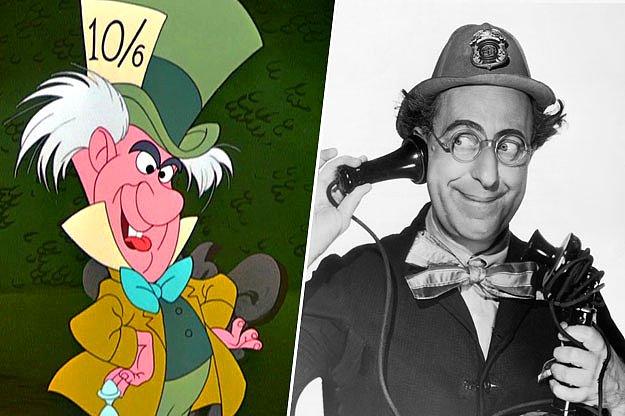 foto del sombrero loco junto a la del comediante Ed Wynn