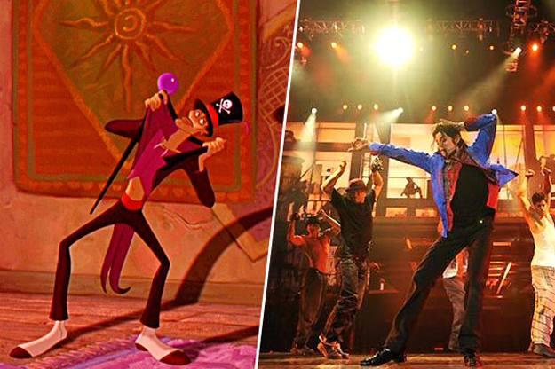 """Doctor Facilier """"La Princesa y el sapo"""" junto a una imagen de Michael Jackson"""