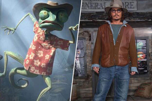 Personaje de rango a lado de una imagen de Johnny Depp