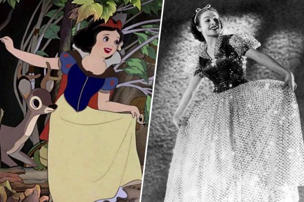 personaje de blanca nieves inspirado en la actriz y bailarina margaret champion