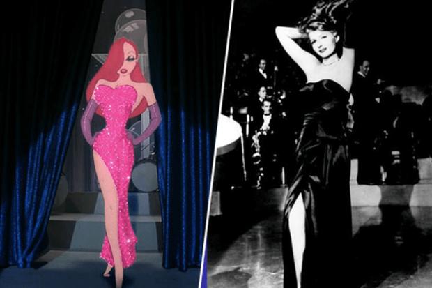 jessica personaje de quien engaño a Rogger Rabbit junto a la actriz Rita Hayworth