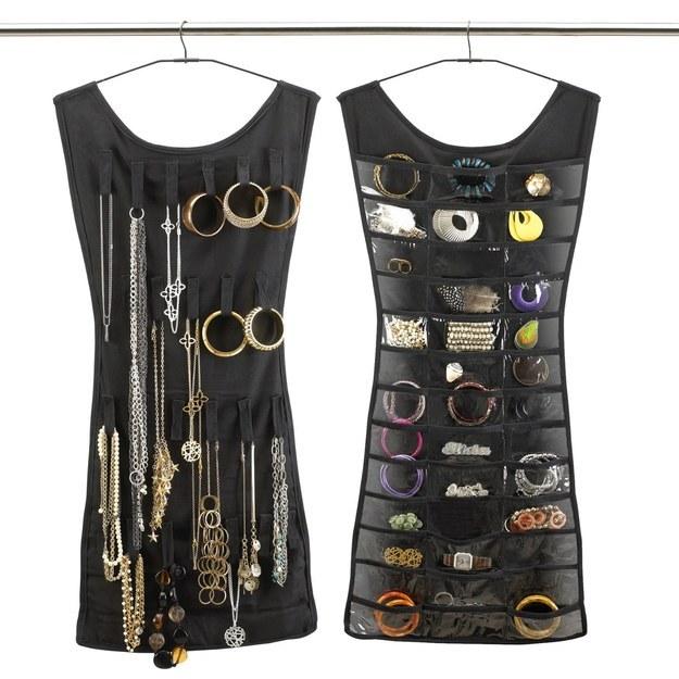 organizador colgante para joyería en forma de vestido