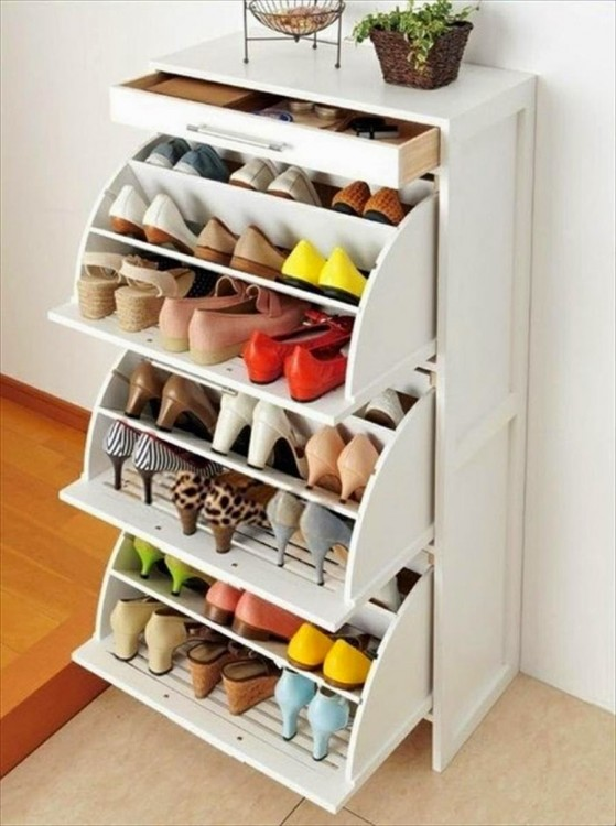 mueble ideal para organizar tus zapatos