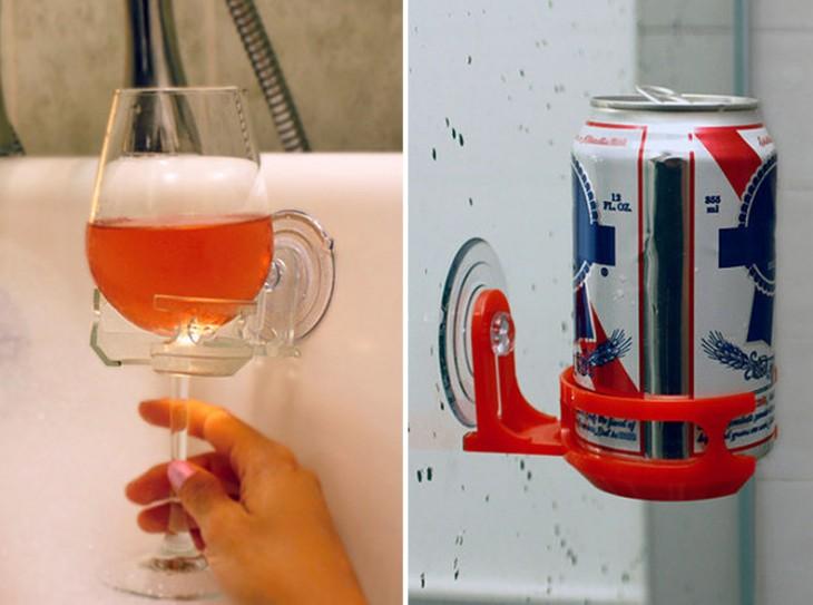 porta vasos para tomar durante la ducha