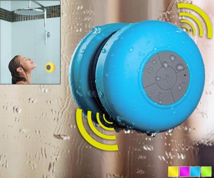 bocina bluetooth para usar durante la ducha