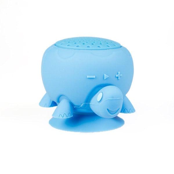 altavoz en forma de tortuga que se puede usar durante la ducha
