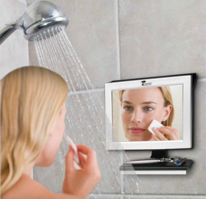 espejo que no se empaña para que lo uses durante la ducha