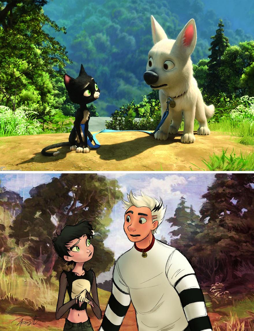 Así lucirían algunos animales de Disney si fueran humanos