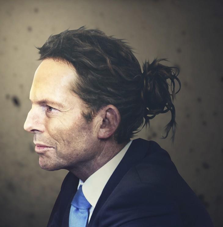 Tony Blair con chongo foto de perfil